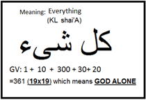 Everything (Arabic KL shai'A)